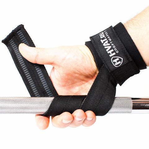 Кистевые ремни Hvat с фиксацией на кисти и неопреновой защитой