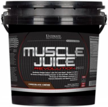 Ultimate Muscle Juice Revolution 2600 (5040 грамм) Высококалорийная белково-углеводная смесь/США