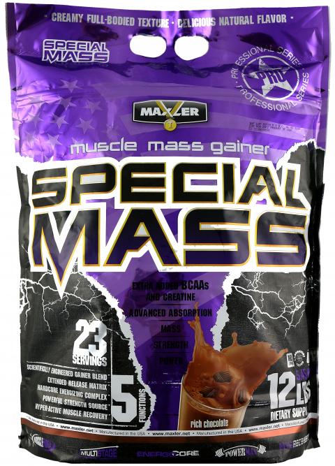 Maxler Special Mass (5400 грамм) Невероятно вкусный гейнер с высоким содержанием ВСАА/США