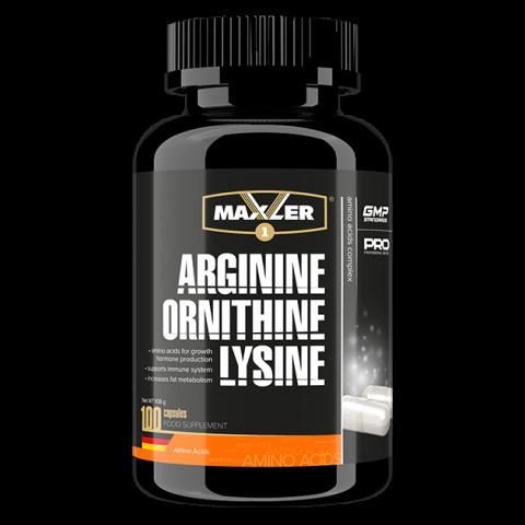 Maxler Arginine-Ornithine-Lysine (100 капс.) Активация выработки гормона роста + восстановление