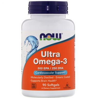 NOW Ultra Umega-3 (90 капсул) - Омега-3 в гелевых капсулах / США