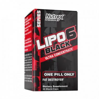 """LIPO-6 Black Ultra Concentrate (30 капсул) - """"Интеллектуальный"""" жиросжигатель / США"""