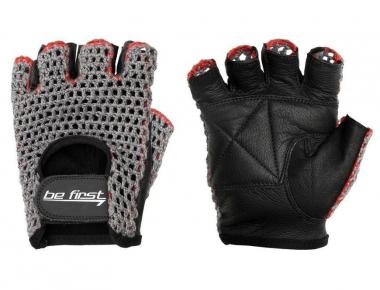 Be First перчатки кожа+сетка