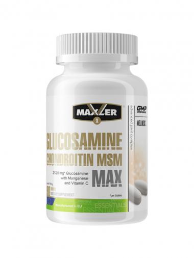 Maxler Glucosamine/Chondroitin/MSM Max (90 таблеток) Сочетание действенных веществ для здоровья суставов / США