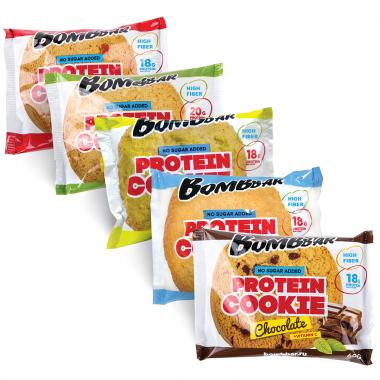 Bombbar Protein Cookie (40 грамм) Низкокалорийное высокобелковое печенье/Россия