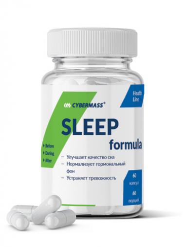 Cybermass Sleep Formula (60 капсул) - Формула для улучшения сна / Россия