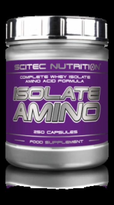 Scitec Nutrition Isolate Amino (250 капсул) - Аминокислотный комплекс на основе ультрафильтрованного сывороточного изолята / Венгрия