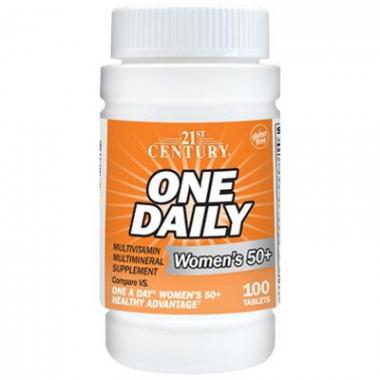 21st One Daily Womens Health 50+ (100 таблеток) Витамины и минералы для здоровья пожилой женщины