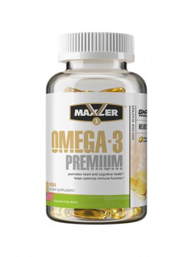 Maxler Omega-3 Premium 600 (60 капсул) Омега-3 600 EPA/DHA / США