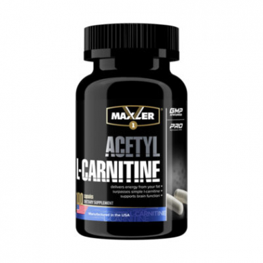 Maxler Acetyl L-Carnitine (100 капсул) Лучшая из форм Л-Карнитина в таблетках/ США