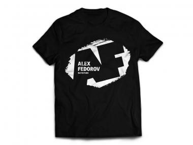 Alex Fedorov Nutrition Футболка Черная