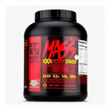 Mutant Mutant Mass XXXTREME 2500 (3180 грамм) - Экстремально высококалорийный гейнер с многокомпонентной углеводной матрицей / Канада