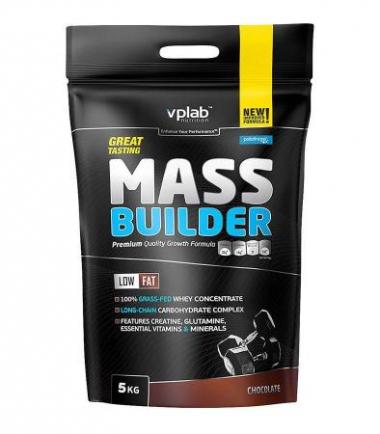 VPLab Mass Builder (5000 грамм) - Высококалорийный белковый продукт для набора веса / Великобритания