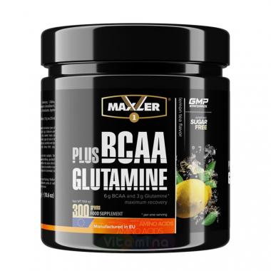 Maxler BCAA + Glutamine (300 грамм) Аминокислоты ВСАА + глютамин/США
